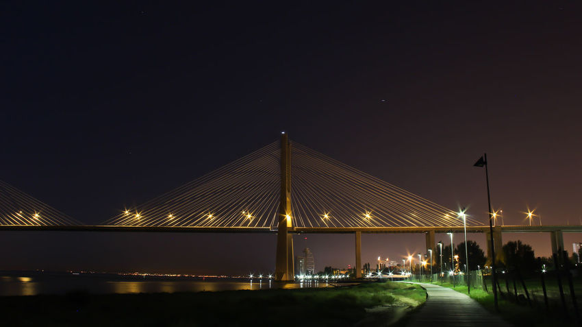 Bridge Bridge View Lisbonne Lisbon Lisboa Tejoriver River Feel The Journey Hd Photo Beautiful Nightphotography