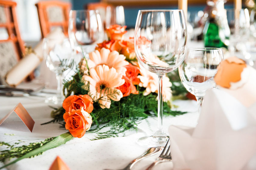 Flower Decoration Bouquet Celebration Close-up Day Dinner Table Drinking Glass Festive Festive Decor Flower Food Freshness Gala Dinner Indoors  Napkin No People Place Setting Plate Ready-to-eat Restaurant Table Table Decoration Wedding Wine Wineglass
