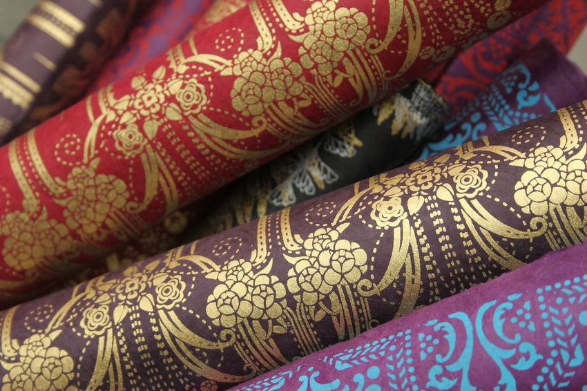 EyeEmNewHere Golden Brixton Close-up Colorful Design Full Frame Pattern Textile Wrapping Paper Full Frame Shot No People