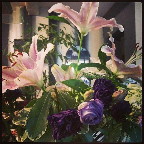 PJ got me some pretty flowers :) Love Boyfriend Anniversary Oneyear Cute Sweet Luckygirl Happy Flowers