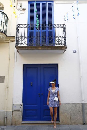 Malgrat De Mar SPAIN Annamour Annamourtravel Architecture Blue Bluedoor Bluedress Building Building Exterior Day Door Dresskot Entrance Floraldress Full Length Lifestyles One Person Outdoors Standing Summer Window Women Youngadult Youngwoman