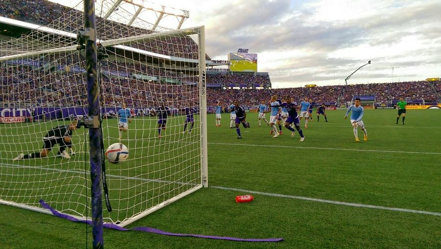 Capture The Moment Orlando City SC's 1st goal as an MLS team! Orlando Orlandocity Soccer Futbol Foreverourcity Gocity Defyexpectations Purple MLS