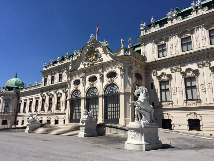 Belvedere Statue Sculpture Human Representation Architecture Male Likeness Art And Craft Travel Destinations Building Exterior Built Structure Low Angle View Renaissance Outdoors Architectural Column Day No People City Sky Charbel Torbey