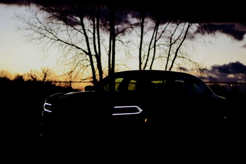 Charger Dodge Sunset Transportation Nature Car Silhouette Land Vehicle Landscape Tree Bare Tree No People Outdoors Day Sky Dodge Charger Dodge Charger Rt BYOPaper!