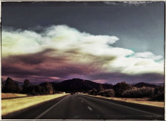 Smoke Clouds from Forest Fires, Southern Oregon