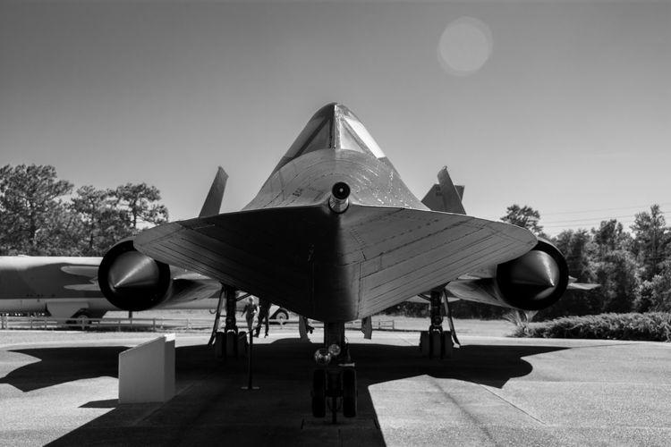 Aircraft SR-71 Blackbird Blackbird Sky Transportation Mode Of Transportation Airplane Clear Sky Air Vehicle Nature Shadow Air Force