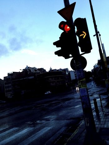 City Winter Sky Red Light No People Trafficlight Traffic Sign Right Turn Only Red Traffic Light Outdoors Cold Temperature The City Light Let's Go. Together.