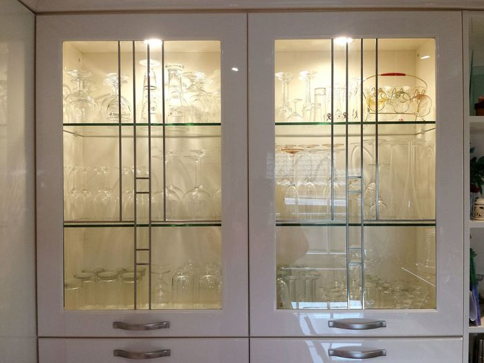 Ladyphotographerofthemonth Reflections Interior Views Interiors My Kitchen Everything In Its Place Glass Vitrine Glass Reflection Glasses Kitchen Life Vitrine With Glasses Kitchen Vitrine Here Belongs To Me
