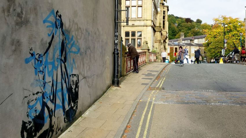 I Love My City Even if the banksy enthusiasts have invaded. Contrast Opposites Graffiti Stencil Wallart Learn & Shoot: Leading Lines Market Happyvalleyhebdenbridge Banksy