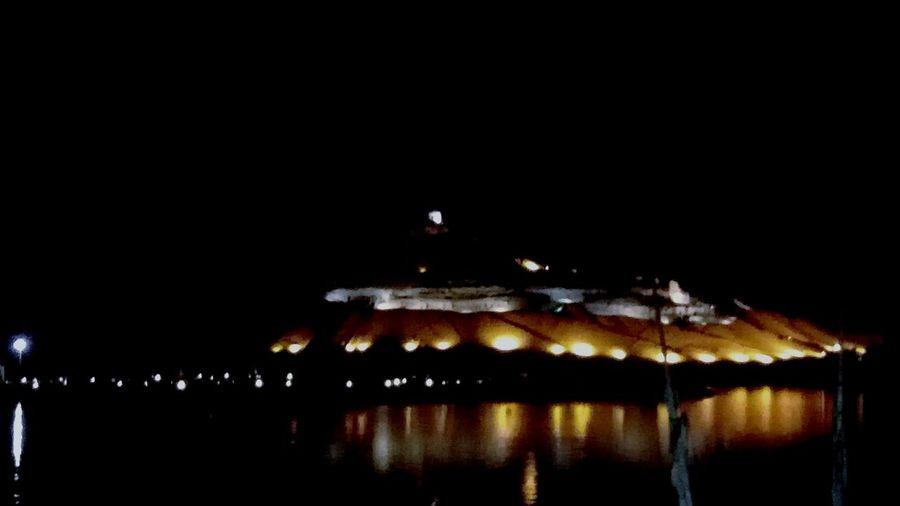 Abo El Hawa Tombs Of Nobels Mountain View Night Lights Night Photography