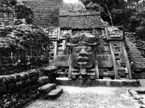 Art And Craft Art Statue Human Representation Sculpture Creativity Carving - Craft Product Spirituality Religion History Wall - Building Feature Ancient Place Of Worship Temple - Building Stone Material Day Outdoors The Past Human Face Stone Monochrome Photography Aztecculture Aztec Blackandwhite Monochrome