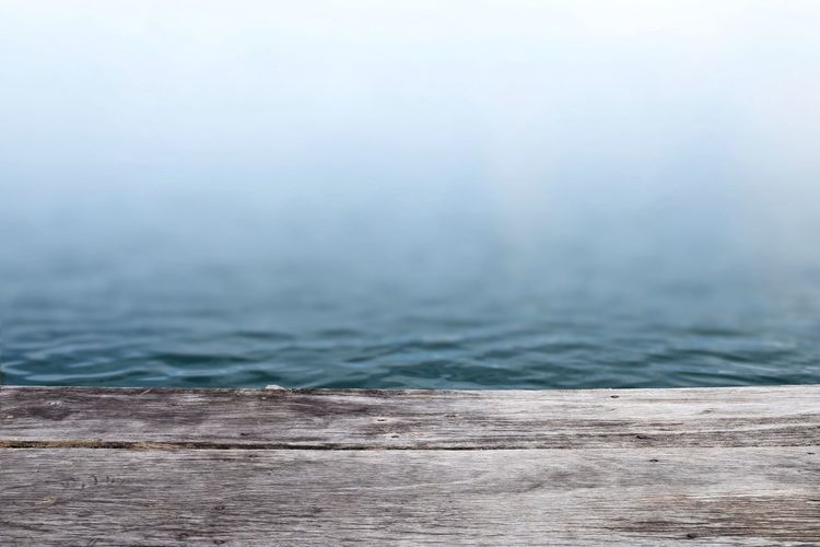 Close-up of wood in sea