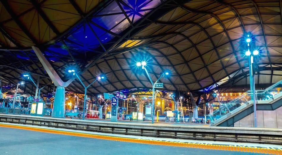Famous Southern Cross Station Train Station Melbourne Melbourne City Victoria Australia Southerncrossstation