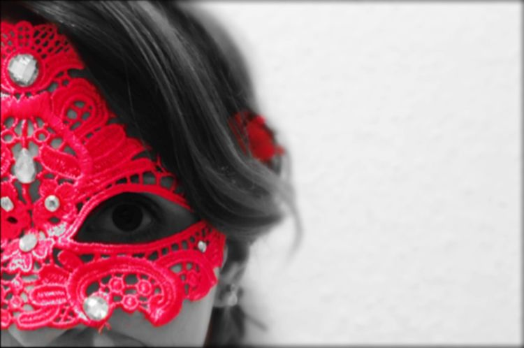 Masquerade Mask Colors Of Carnival Carnival Portrait Of A Woman Portrait Blackandwhite Pink IPhoneography Iphone6s Face Edit EyeEm Best Edits Behind The Masks Eyes Close-up Hiding Hide And Seek ThatsMe The Portraitist - 2016 EyeEm Awards Press For Progress