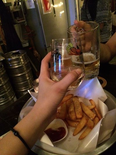 Cheers🍻 Happymonster Cheers Loei Chiangkhan Craftbeer Human Hand Food And Drink Human Body Part Hand Real People Refreshment Drink Holding Glass Alcohol One Person Indoors  Freshness Women Adult Food Lifestyles Restaurant Personal Perspective Finger