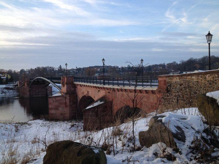 Architecture Brücke Cold Temperature Grimma No People Outdoors Pöppelmannbrücke Sachsen Schnee Schneelandschaft Winter