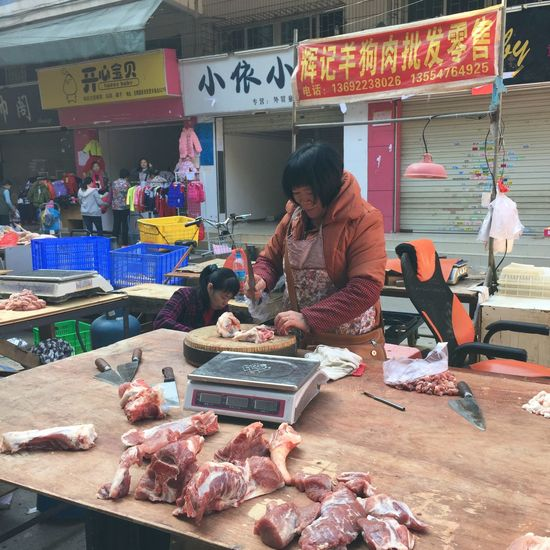 Woman Butcher #Food #butcher #butchery #foodphotography #market #marketplace #sell Pork Butcher Food Market Meat People Retail  Small Business Standing