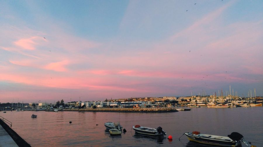 Lagosportugal Sunset City Sea Travel Destinations Sky Water Photography Photooftheday
