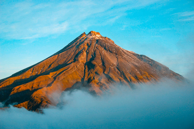 Mountain Beauty In Nature Scenics - Nature Volcano Geology Non-urban Scene Smoke - Physical Structure Sky Nature Tranquil Scene Tranquility Idyllic Landscape No People Physical Geography Environment Volcanic Landscape Day Mountain Peak Outdoors Power In Nature Volcanic Crater Formation