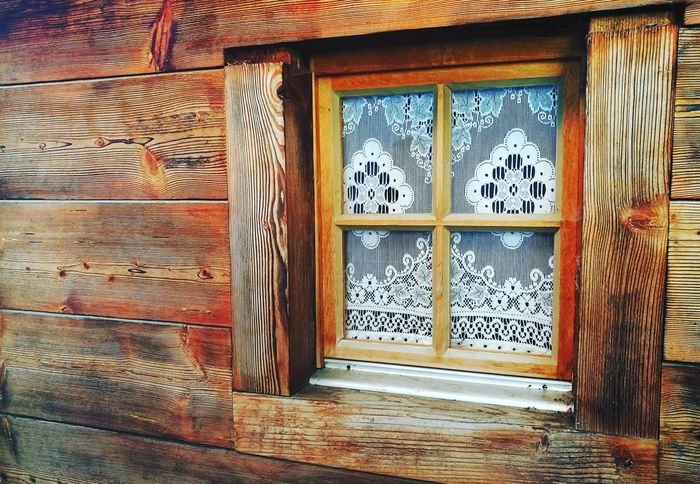 Built Structure Window Architecture Building Exterior No People Lovemycountry Myswitzerland Vallis Curtain Curtains Can Be Beautiful Wood Wooden House Wood House