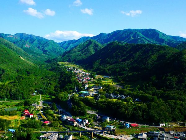 countryside in JapanGreen Color Japan Japan Photography Travel Traveling YAMAGATA Yamagata,Japan Beauty In Nature Countryside High Angle View Landscape Mountain Mountain Range Nature Scenics Sky Temple Tree Yamadera Yamadera Temple 山寺 山形 山形県 自然 EyeEmNewHere