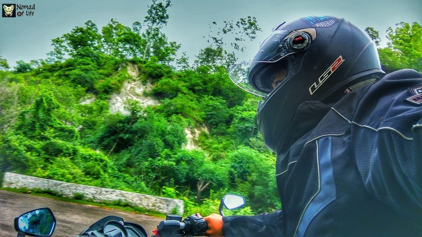 Let me take you on a journey... 🇮🇳 One Person Tree Day People Lifestyles Outdoors Leisure Activity Adult Real People Men Adults Only One Man Only Only Men Headwear Nature Sky Motorcycle Photography Eyeemphotography Nomad EyeEm Highwayphotography Photography Closeup Photography Motorcycle Bikelife Highways&Freeways