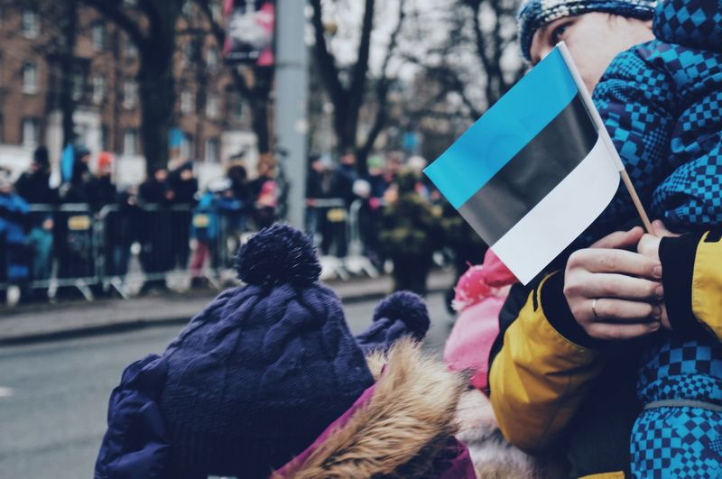 Independence Day HERO Moving Peace Peoplepower Tallinn Parade Flag Freedom Independence Day Real People Group Of People City Focus On Foreground Women Rear View Day Street People Holding Lifestyles Incidental People Architecture Adult Outdoors Men Winter Clothing Standing Warm Clothing