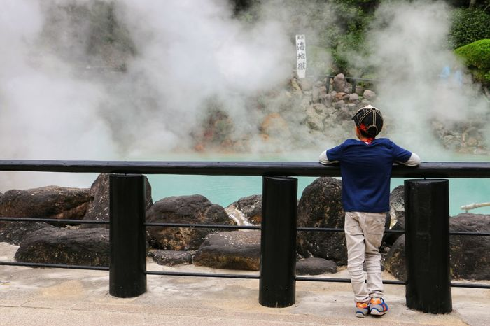 Smoke - Physical Structure Outdoors Beppu Onsen Hot Spring Geyser Pool Kid Pond Vacations Picture Nature Japan