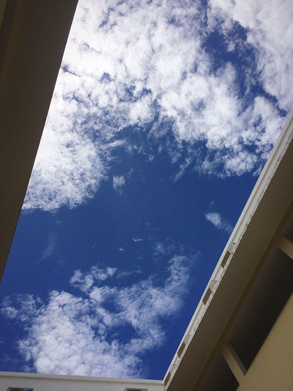 DIRECTLY BELOW SHOT OF SKY