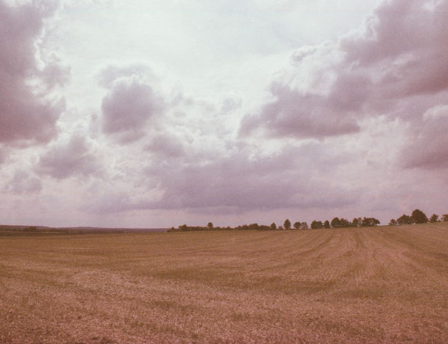 Strange Colors Agriculture Analog Colors Beauty In Nature Day Field Landscape Nature No People Outdoors Plough Rural Scene Scenics Sky Tranquil Scene Tranquility