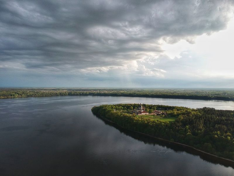 Stormy clouds over monastery Pazaislis Monestery Kaunomarios Kaunas Clouds Stormyclouds Monastery Water Cloud - Sky Sky Beauty In Nature Scenics - Nature Tranquility Nature Reflection Lake Landscape Outdoors Architecture No People Overcast