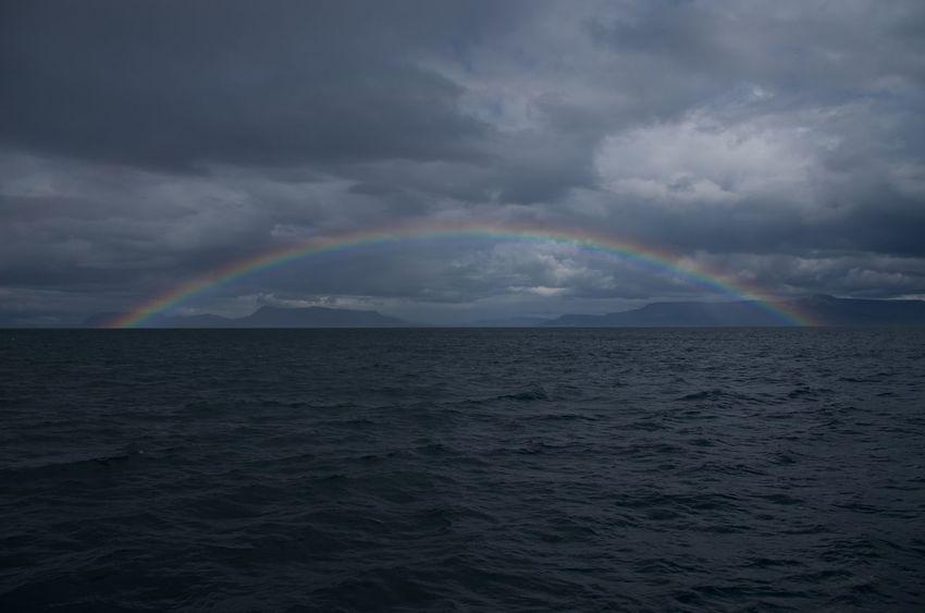 Iceland Ocean View Rainbow