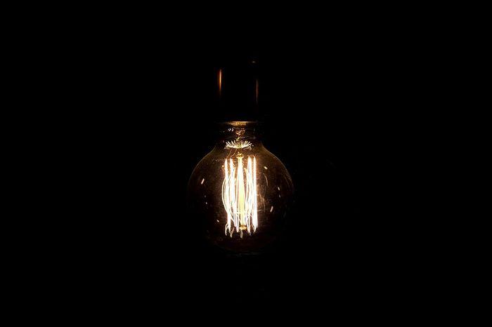 Light in the dark... Lightbulb Darkness And Light