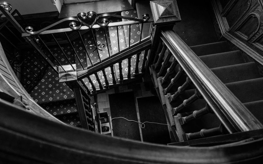 Stairway To Heaven . Steps And Staircases Railing Steps Architecture Built Structure Church Blackandwhite Bnw_captures Blackandwhite Photography Basilica High Angle View 412project 412