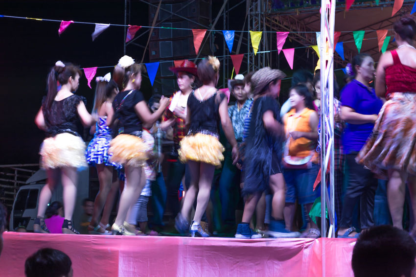 Thailand Thailand Music Nakhon Pathom Thai Dance Dance Floor Nightlife Outdoors Large Group Of People Night Real People Fun Men Togetherness Lifestyles Happiness Women People Enjoyment Dancing Crowd Dancers Popular Music Concert Music Watching Motion