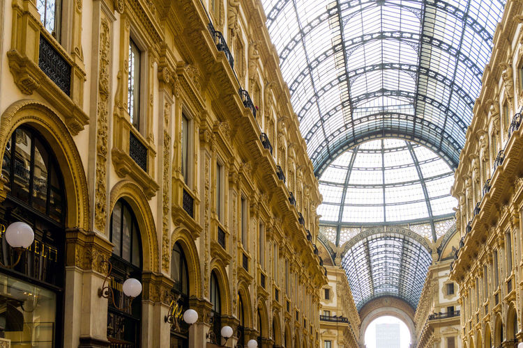 Arch Architecture Built Structure City Day Dome Galleria Vittorio Emanuele II History Indoors  Low Angle View No People Travel Destinations Window