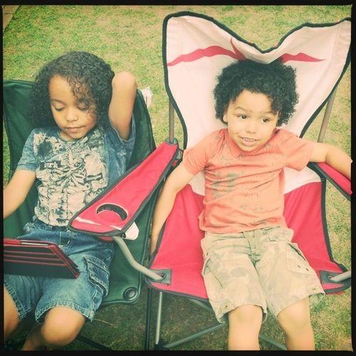 my boys Moses & Elijah chilling 25 Days Of Summer My Boys