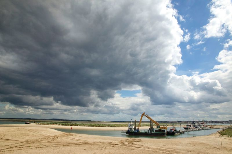 Dredger at Wells, Norfolk UK Cloud - Sky Sky Day Nature Scenics No People Beauty In Nature Outdoors Sea Landscape Travel Destinations Water Oil Pump Wells-next-the-Sea Norfolk Uk