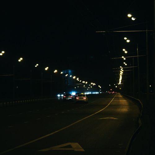 MeinAutomoment Night Photography Road Cars Kazan At Night