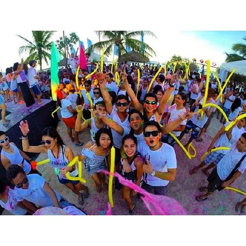Party hard.make mistakes.laugh endlessly. Afterall your'e only YOUNG once. ? ? ? ?? ? Summerparty Funcolor Bluewater