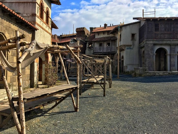Architecture Sky Built Structure Building Exterior Outdoors Day No People Cloud - Sky Movie Set Medieval Market Medieval Scenery Movie Studio Marketplace EyEmNewHere