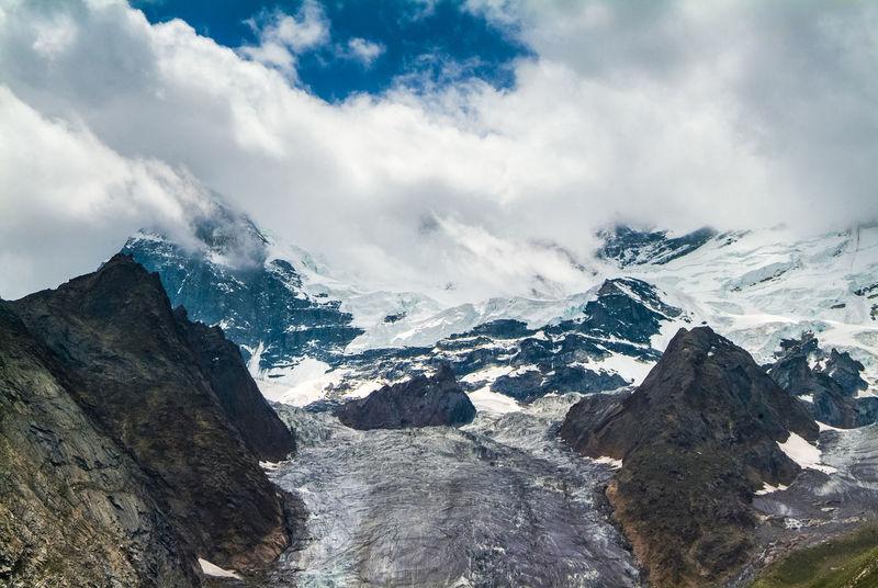 Parkachik Glacier in 'suru valley' on the way from Kargil to Zanskar Glacier India Jammu And Kashmir Landscape Leh Leh Ladakh.. Mountain Mountain Range Nature Parkachik Parkachik Glacier Snow Suru Valley Travel