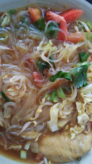 Soto Ayam Soup BreakfastTime  Food Food And Drink Freshness Close-up Noodles Cooked Indoors  No People