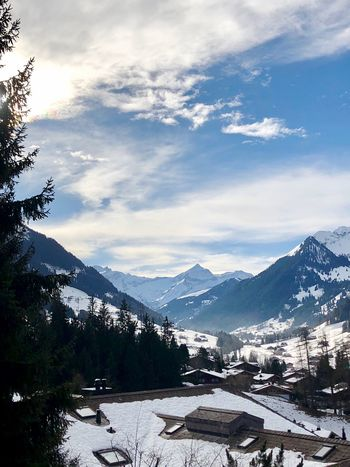 Another beautiful morning Good Morning I❤️snow I❤️Gstaad Bolonie Style Bolonie Art Bolonie Mountain Sky Snow Beauty In Nature Nature Mountain Range Cloud - Sky Building Exterior Tranquil Scene Outdoors Tranquility Cold Temperature Scenics Landscape Winter No People Day Tree Architecture Built Structure Shades Of Winter