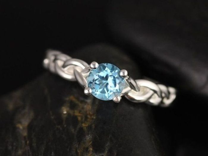 This ring matches the necklace my BF gave me and I love it. Hoping to buy this ring. Promise Ring Rings Blue