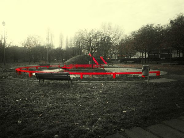 Playground Red Urban Nature