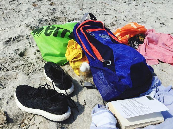 Land Shoe Still Life Sand Multi Colored Personal Accessory