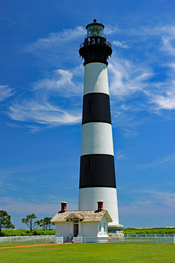 Lighthouse Building Exterior Cape Hatteras Lighthouse Lighthouse North Carolina Outer Banks Seascape Tower Vacation Destination