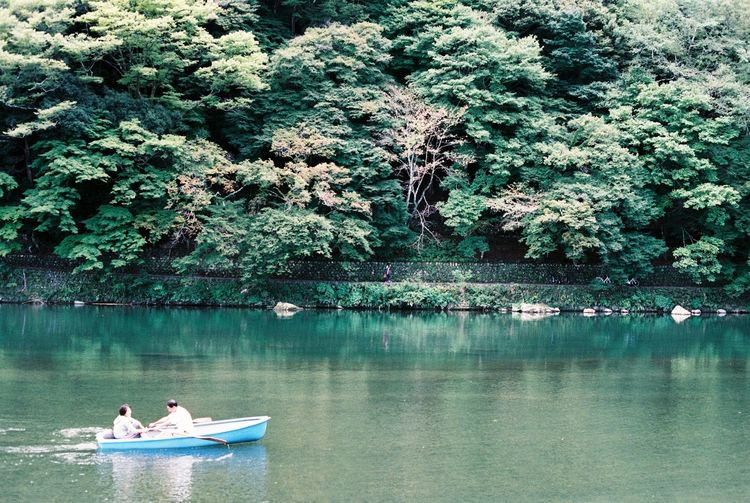 Analog Analogue Photography Arashiyama Beauty In Nature Boat Film Film Photography Forest Fuji Superia X-Tra 400 Fujifilm Kyoto Outdoors Pond Reflection Relaxing Moments River Riverbank Riverside Standing Water Tranquil Scene Tranquility Tree Tropical Climate Vacations Water