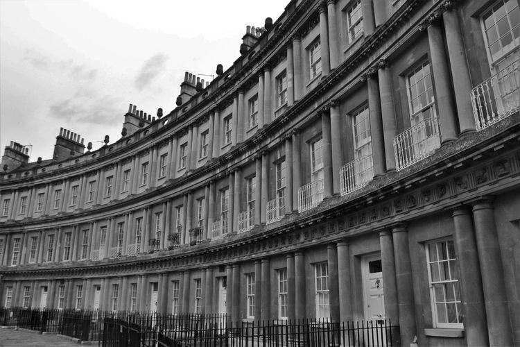 Bath Persuasion Sky And Clouds Somerset England Balcony Building Exterior City England Jane Austen Landscape Regency Regency Architecture Royal Crescent Streetphotography